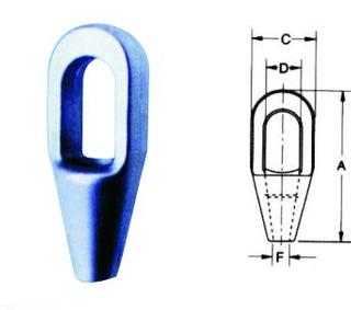巴氏合金闭式浇铸索具(ZS0502)